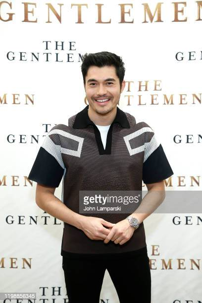 Henry Golding attends The Gentlemen New York photo call at the Whitby Hotel on January 11 2020 in New York City