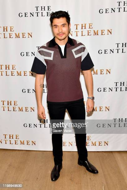 Henry Golding attends the NY Photo Call for The Gentlemen at The Whitby Hotel on January 11 2020 in New York City