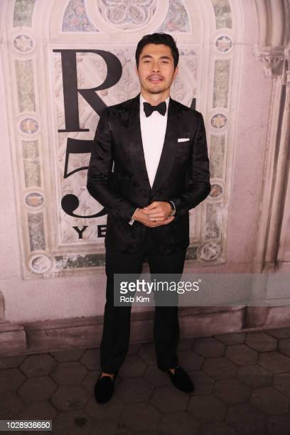 Henry Golding attends the Ralph Lauren fashion show during New York Fashion Week at Bethesda Terrace on September 7 2018 in New York City