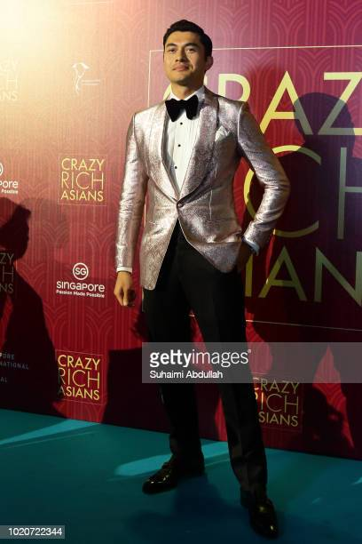 Henry Golding attends the Singapore premiere of 'Crazy Rich Asians' on August 21 2018 in Singapore