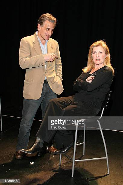 Henry Goodman and Kate Mulgrew during 'The Exonerated' Cast Change April 18 2006 at Riverside Studios in London Great Britain