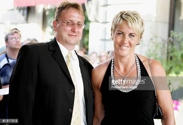 Henry Grattolf and Astrid Kumbernuss attends the 'Goldene Sportpyramide Award' at the Adlon Hotel on May 31 2008 in Berlin Germany