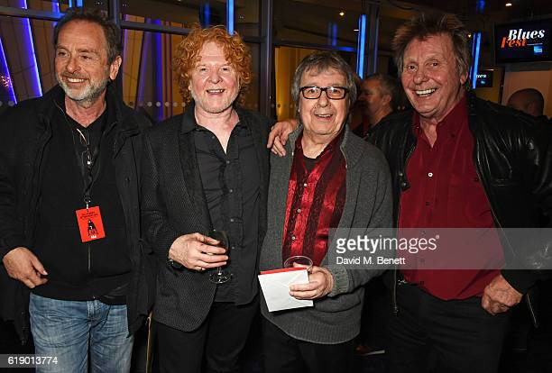 Henry Gross Mick Hucknall Bill Wyman and Joe Brown attend Bill Wyman's 80th Birthday Gala as part of BluesFest London at Indigo at The O2 Arena on...