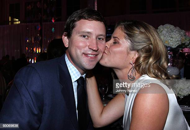 Henry Hager and Jenna BushHager attend the Russell Simmons Diamond Empowerment Fund Dallas Rocks Benefit Dinner on November 14 2009 in Dallas Texas