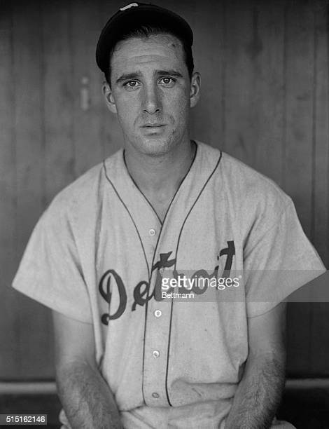 Henry 'Hank' Greenberg first baseman of the Detroit Tigers whose supremacy in the American League for the 1935 season is virtually assured is shown...