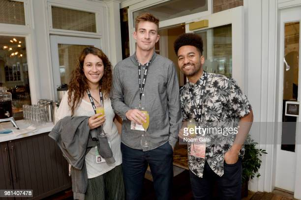 Henry Hayes and Zolan KannoYoungs attend the Showtime Tony Cox Awards Brunch during the 2018 Nantucket Film Festival Day 3 on June 22 2018 in...