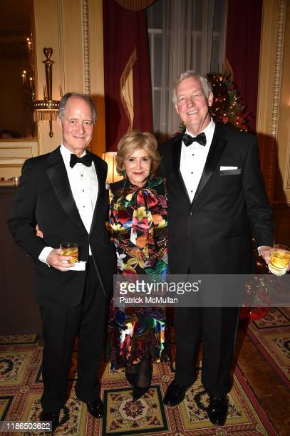 Henry Heller Leila Heller and Jim Neikirk attend The Wedding of Sharon Bush and Robert Murray at Central Presbyterian Church on November 30 2019 in...