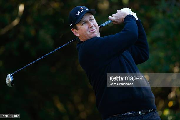 J Henry hits a tee shot on the 11th hole during the first round of the Valspar Championship at Innisbrook Resort and Golf Club on March 13 2014 in...