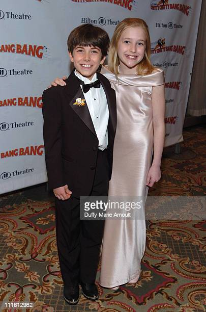 """Henry Hodges and Emily Marlow during """"Chitty Chitty Bang Bang"""" Broadway Opening Night - Curtain Call and After Party at The Hilton Theatre and Hilton..."""