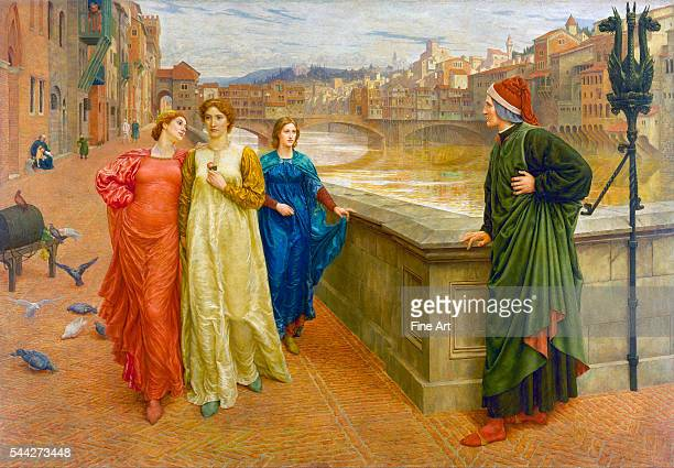Henry Holiday Dante and Beatrice in Florence 18824 oil on canvas 2032 x 2032 cm Walker Art Gallery Liverpool England