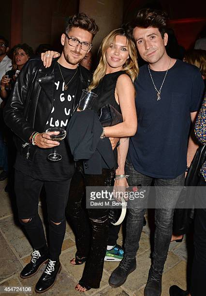 Henry Holland Abbey Clancy and Nick Grimshaw attend the Soho House event to celebrate Kasabian's performance at the iTunes Festival London on...