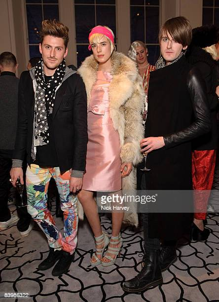 Henry Holland, Agyness Deyn and Gareth Pugh attend fashion magazine Love's Christmas Tea And Treasure Hunt at Royal Academy of Arts on December 10,...
