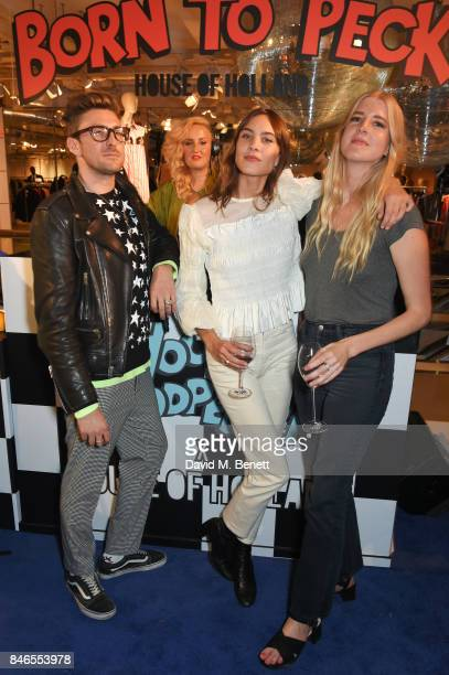 Henry Holland Aimee Phillips Alexa Chung and Gillian Orr attend the launch of the House of Holland x Woody Woodpecker London Fashion Week pop up at...