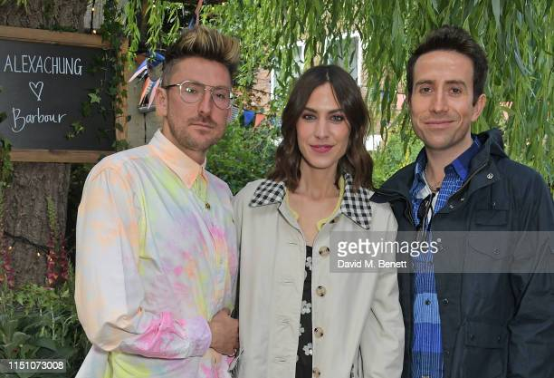 Henry Holland Alexa Chung and Nick Grimshaw attend the VIP London launch of the Barbour by ALEXACHUNG collection at The Albion on June 20 2019 in...