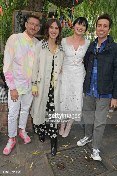 Henry Holland, Alexa Chung, Daisy Lowe and Nick Grimshaw attend the VIP London launch of the Barbour by ALEXACHUNG collection at The Albion on June...