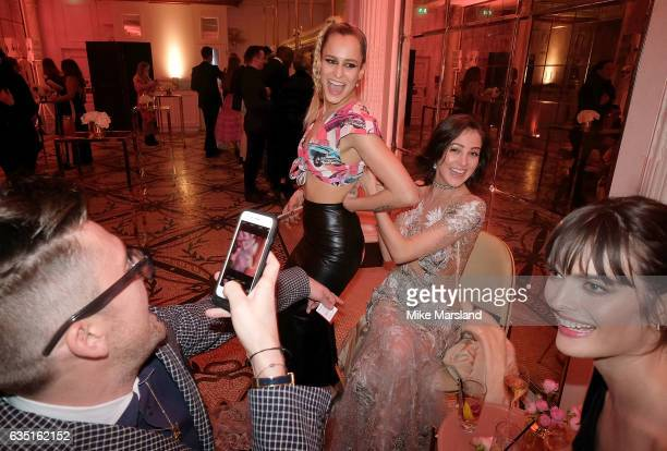 Henry Holland Alice Dellal Eliza Cummings and Sam Rollinson at the Elle Style Awards 2017 after party on February 13 2017 in London England