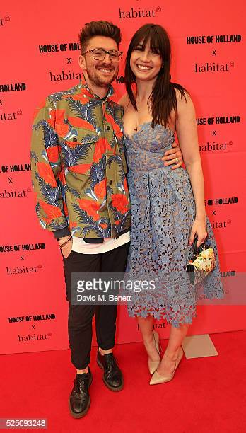 Henry Holland and Daisy Lowe attend the launch of House of Holland's first interior collection with Habitat at Habitat Tottenham Court Road on April...
