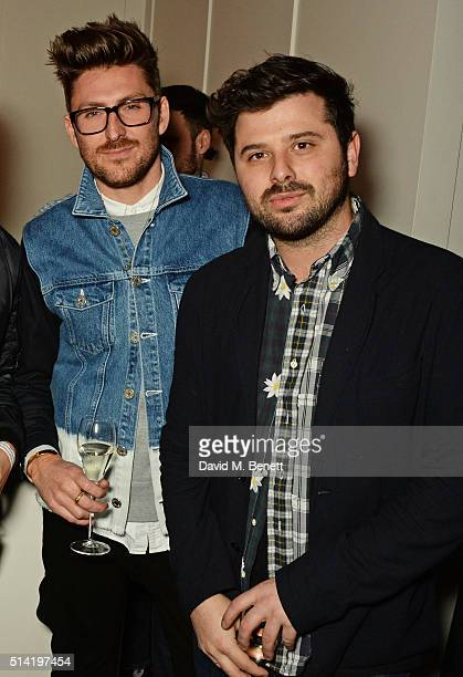 Henry Holland and David Hodgson attend the ES Magazine 'Young London' party with Converse at Bistrotheque on March 7 2016 in London England