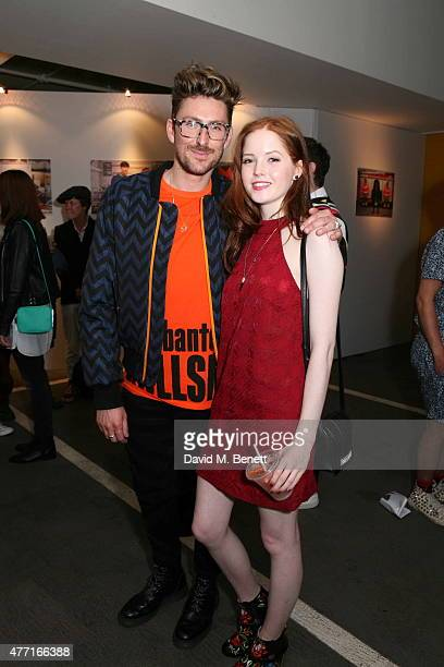 Henry Holland and Ellie Bamber attend the House of Holland presentation during London Collections Men SS16 on June 14, 2015 in London, England.