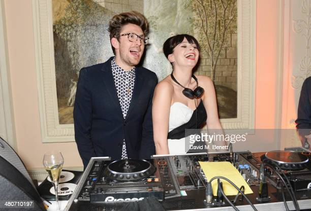 Henry Holland and Gizzi Erskine attend a party to celebrate 25 years of Magnum at Home House on March 26 2014 in London England