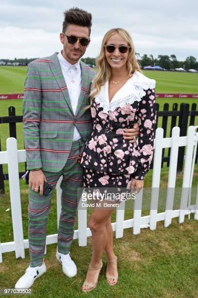 Henry Holland and Harley VieraNewton attend the Cartier Queen's Cup Polo Final at Guards Polo Club on June 17 2018 in Egham England