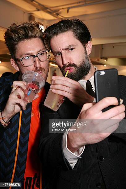 Henry Holland and Jack Guinness attend the House of Holland presentation during London Collections Men SS16 on June 14 2015 in London England