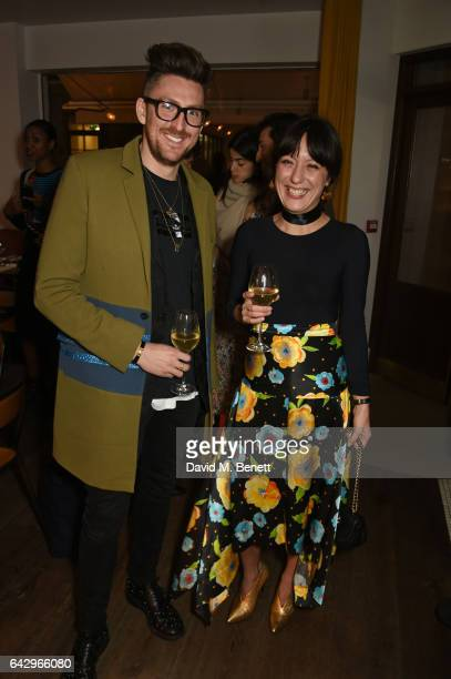 Henry Holland and Katherine Ormerod arrive as Topshop and Leandra Medine host dinner to celebrate London Fashion Week on February 19 2017 in London...