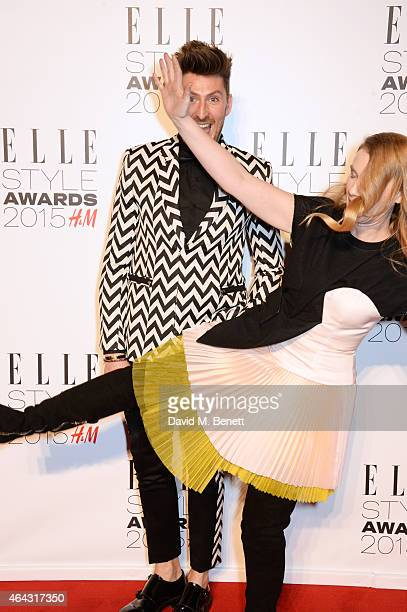 Henry Holland and Katie Hillier attend the Elle Style Awards 2015 at Sky Garden @ The Walkie Talkie Tower on February 24 2015 in London England