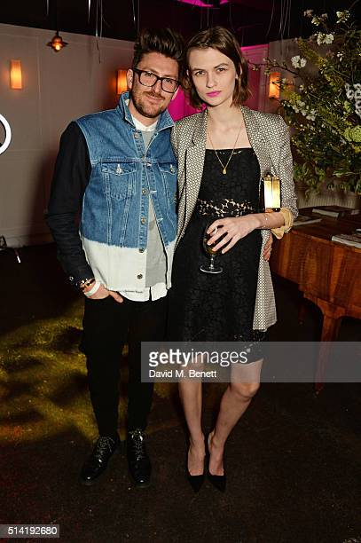 Henry Holland and Lara Mullen attend the ES Magazine 'Young London' party with Converse at Bistrotheque on March 7 2016 in London England