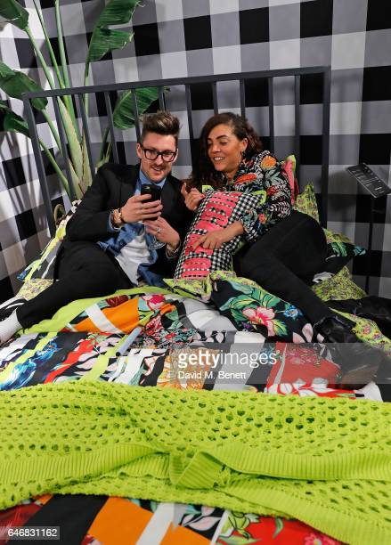 Henry Holland and Miquita Oliver attend the launch of House Of Holland x Habitat at Habitat on March 1 2017 in London England