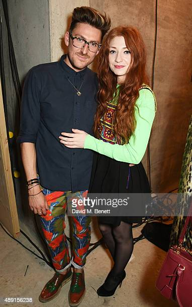 Henry Holland and Nicola Roberts attend the House Of Holland show during London Fashion Week SS16 at Collins Music Hall on September 19 2015 in...