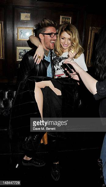 Henry Holland and Nicola Roberts attend the launch of The Lion popup restaurant at The Brompton Club featuring a private dinner for Joseph Altuzarra...