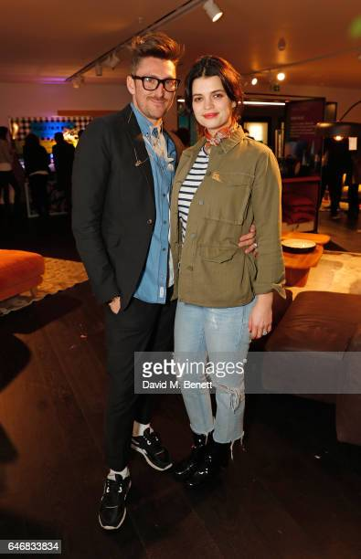 Henry Holland and Pixie Geldof attend the launch of House Of Holland x Habitat at Habitat on March 1 2017 in London England