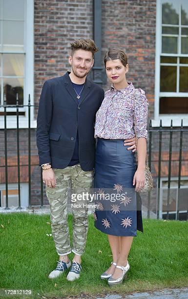 Henry Holland and Pixie Geldof attends the launch party for the Fashion Rules exhibition a collection of dresses worn by HRH Queen Elizabeth II...