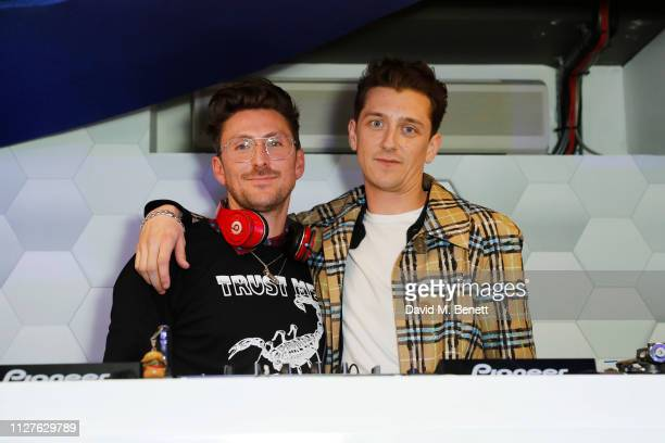 Henry Holland and Rory Cottam attend the launch of The House Of Peroni on February 26 2019 in London England