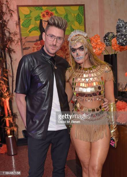 Henry Holland and Sophia Hadjipanteli attend Ella Canta's Day of the Dead celebration on October 30 2019 in London England