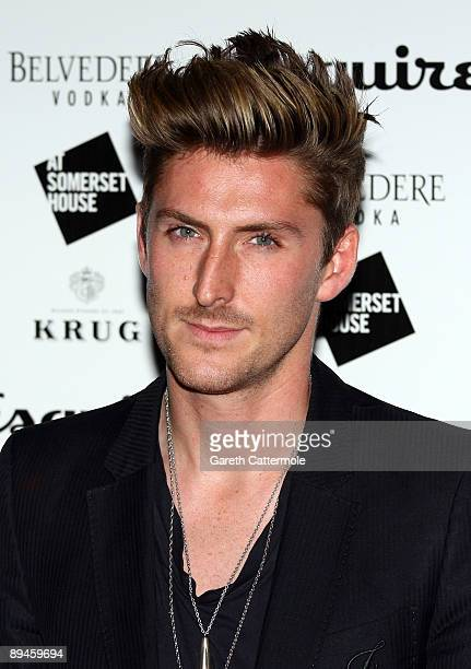 Henry Holland arrives at Esquire's Singular Suit Project launch party at Somerset House on July 29 2009 in London England