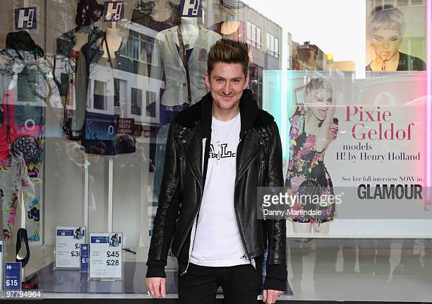 Henry Holland at the launch photocall for H By Henry Holland at Debenhams on March 17 2010 in London England