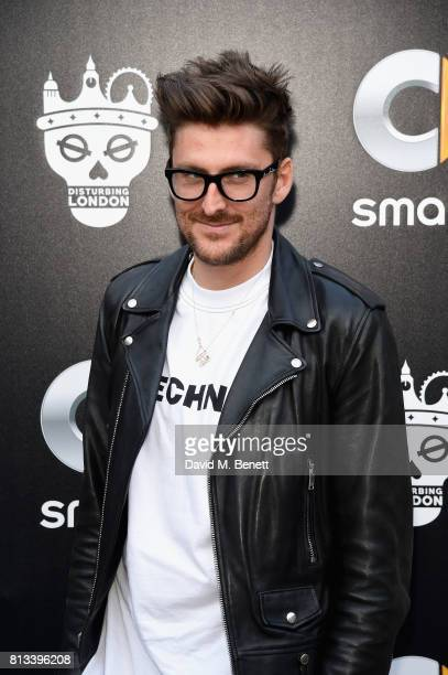 Henry Holland attends the launch event for the limited edition Disturbing London x smart BRABUS fortwo car at Hoxton Docks on July 12 2017 in London...