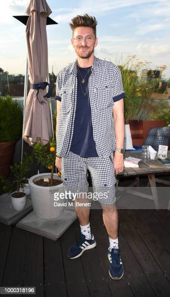 Henry Holland attends the launch of the collaboration between House of Holland Papier on July 16 2018 in London England The collaboration came about...