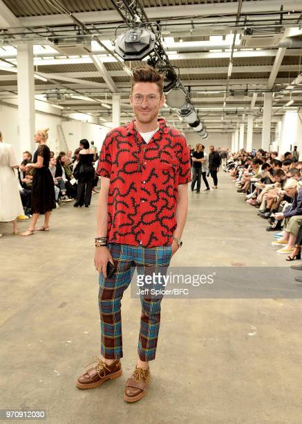 Henry Holland attends the MAN show during London Fashion Week Men's June 2018 on June 10 2018 at the Old Truman Brewery in London England