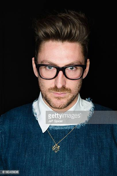 Henry Holland backstage ahead of the House of Holland 10 year anniversary show at Victoria Albert Museum on October 21 2016 in London England