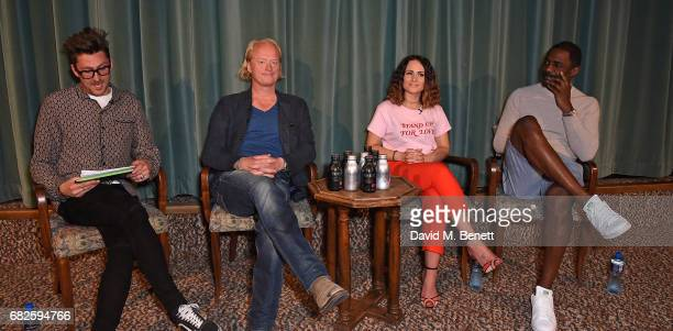 Henry Holland Chris BarŽzBrown Olivia Louise and Idris Elba attend the Idris Elba Purdey's campaign launch event at Soho House on May 13 2017 in...