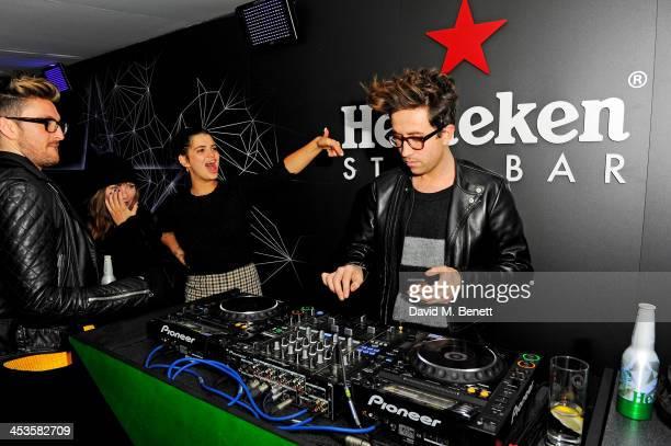Henry Holland Collette Cooper Pixie Geldof and Nick Grimshaw attend the Heineken Design Night VIP Lounge celebrating the launch of the Heineken Club...