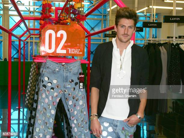 Henry Holland launches the 501Jeans By House of Holland collection at Selfridges on September 18, 2008 in London, England.