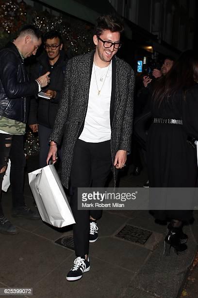 Henry Holland leaving the Ivy Chelsea Garden on November 23 2016 in London England