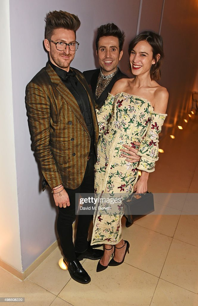 Henry Holland, Nick Grimshaw and Alexa Chung attend the British Fashion Awards official afterparty hosted by St Martins Lane and sponsored by Ciroc Vodka at St Martins Lane on November 23, 2015 in London, England.