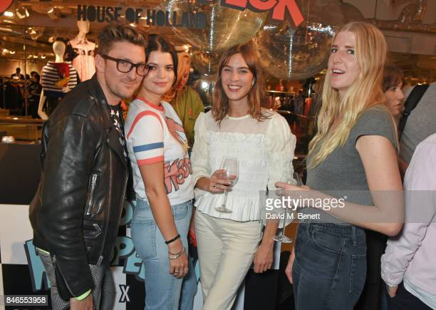 Henry Holland Pixie Geldof Alexa Chung and Gillian Orr attend the launch of the House of Holland x Woody Woodpecker London Fashion Week pop up at...