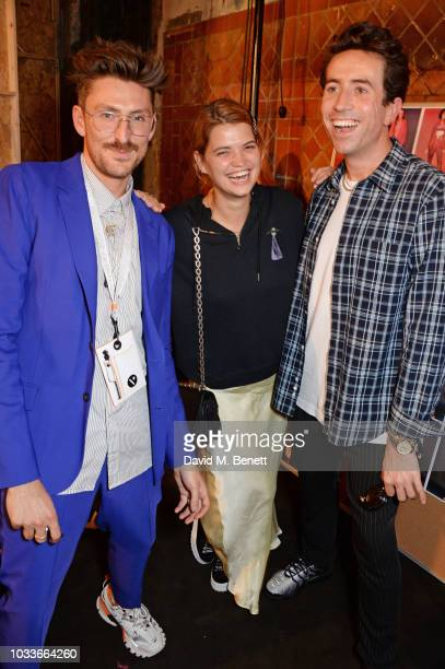 Henry Holland Pixie Geldof and Nick Grimshaw attend the House Of Holland front row during London Fashion Week September 2018 at the My Beautiful City...