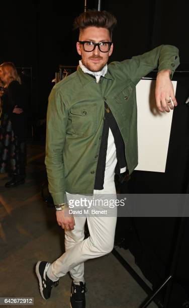 Henry Holland poses backstage at the House of Holland show during the London Fashion Week February 2017 collections on February 18 2017 in London...